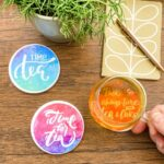 DIY Coasters Using Cricut Infusible Ink