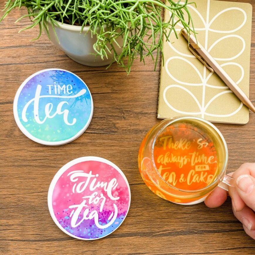 DIY Coasters Using Cricut Infusible Ink