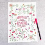 Adult Colouring Page - Kindness Looks Amazing on You