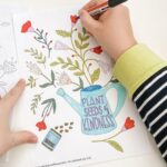 Plant Seeds of Kindness Colouring page