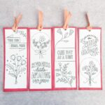 Printable Quote Bookmarks to Colour