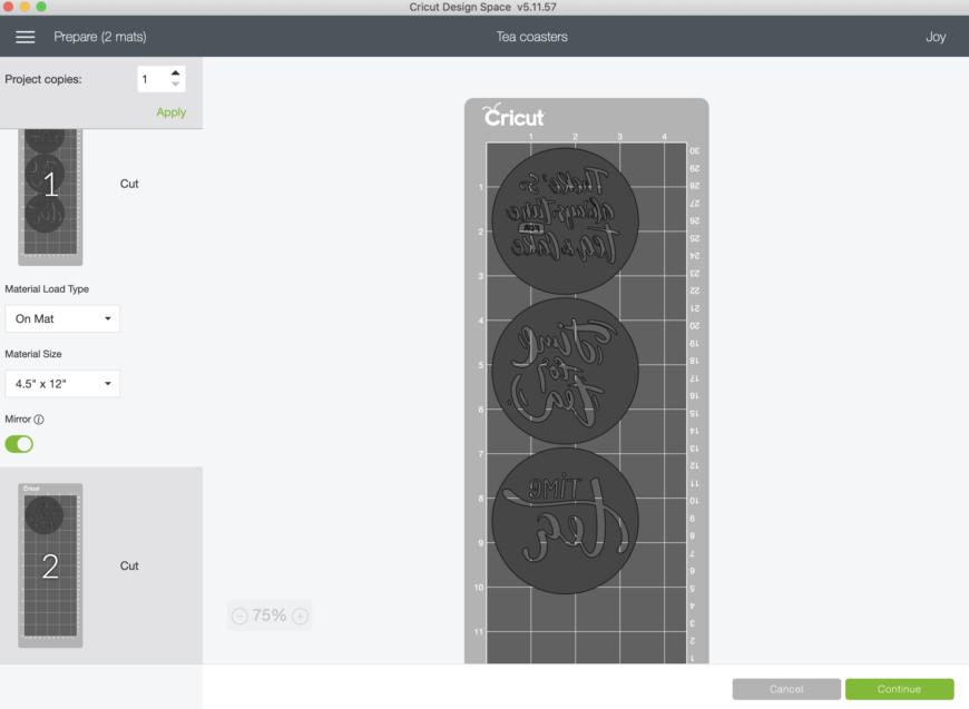 DIY Coasters Using Cricut Infusible Ink - makers mat