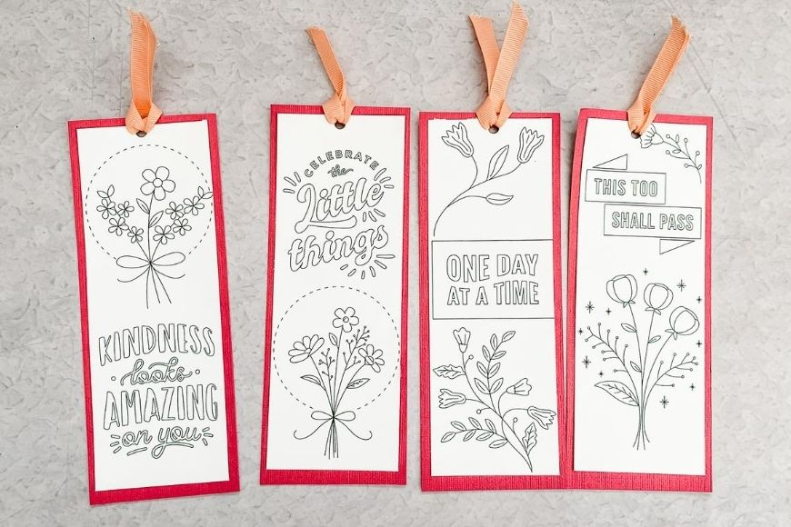 Printable Quote Bookmarks To Colour Mum In The Madhouse