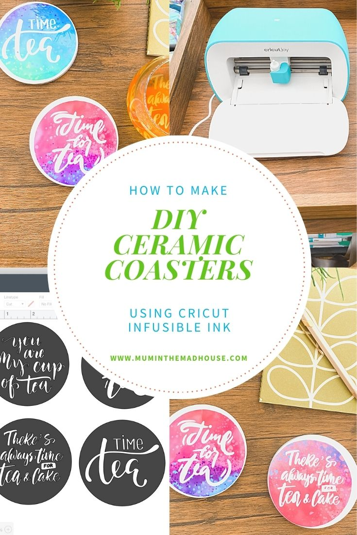 Get my tips and tricks to make amazing DIY Coasters Using Cricut Infusible Ink. You would never guess these are homemade, they look so professional.