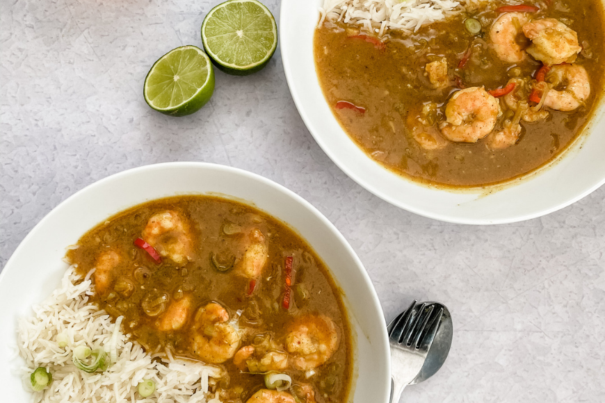 King Prawn and Spicy Maple Curry