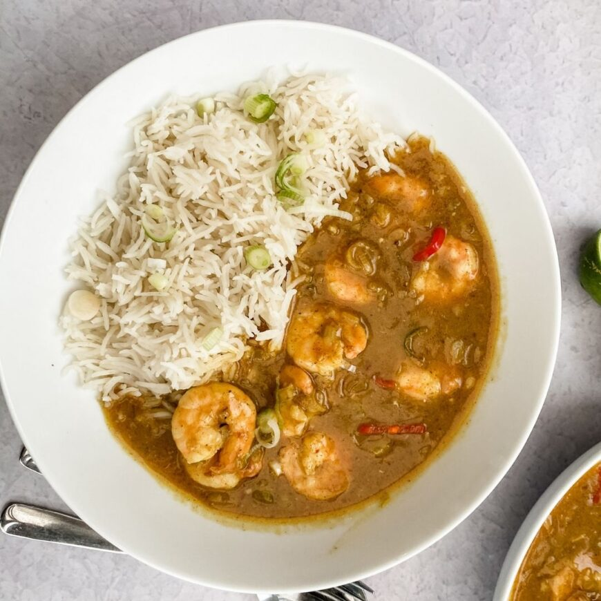 This King Prawn and Spicy Maple Curry is simple to make, tastes as good as it look and has a delicious depth of flavour.