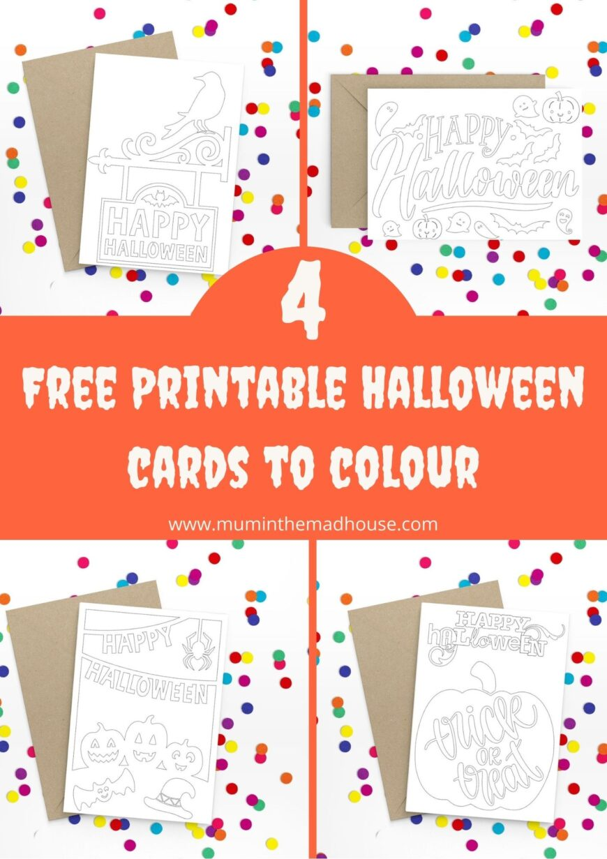 Free Printable Halloween Cards To Colour Mum In The Madhouse
