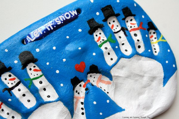 Snowman Handprint Keepsake from Learning and Exploring Through Play may be my favorite keepsake of all.