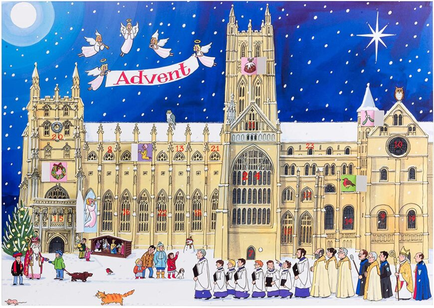 Alison Gardiner 'Christmas at the Cathedral' Large Traditional Advent Calendar