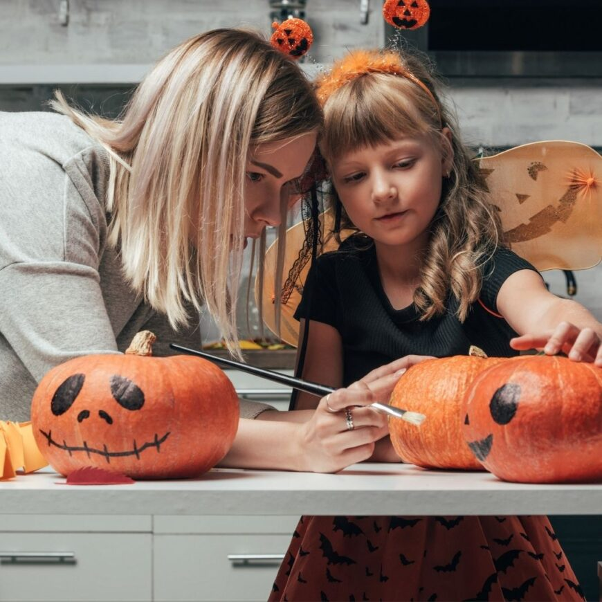 Have a Halloween at home that is fun for all with our spooky yet simple Halloween activities and crafts to do with the kids this half term.