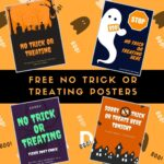 Free No Trick or Treaters Signs to Print