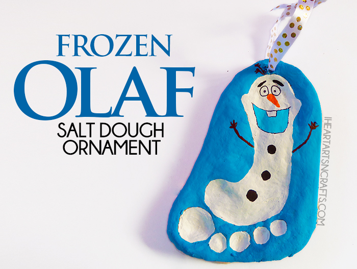 Do you have a Frozen fan in the house, if so this Olaf Salt Dough Keepsake