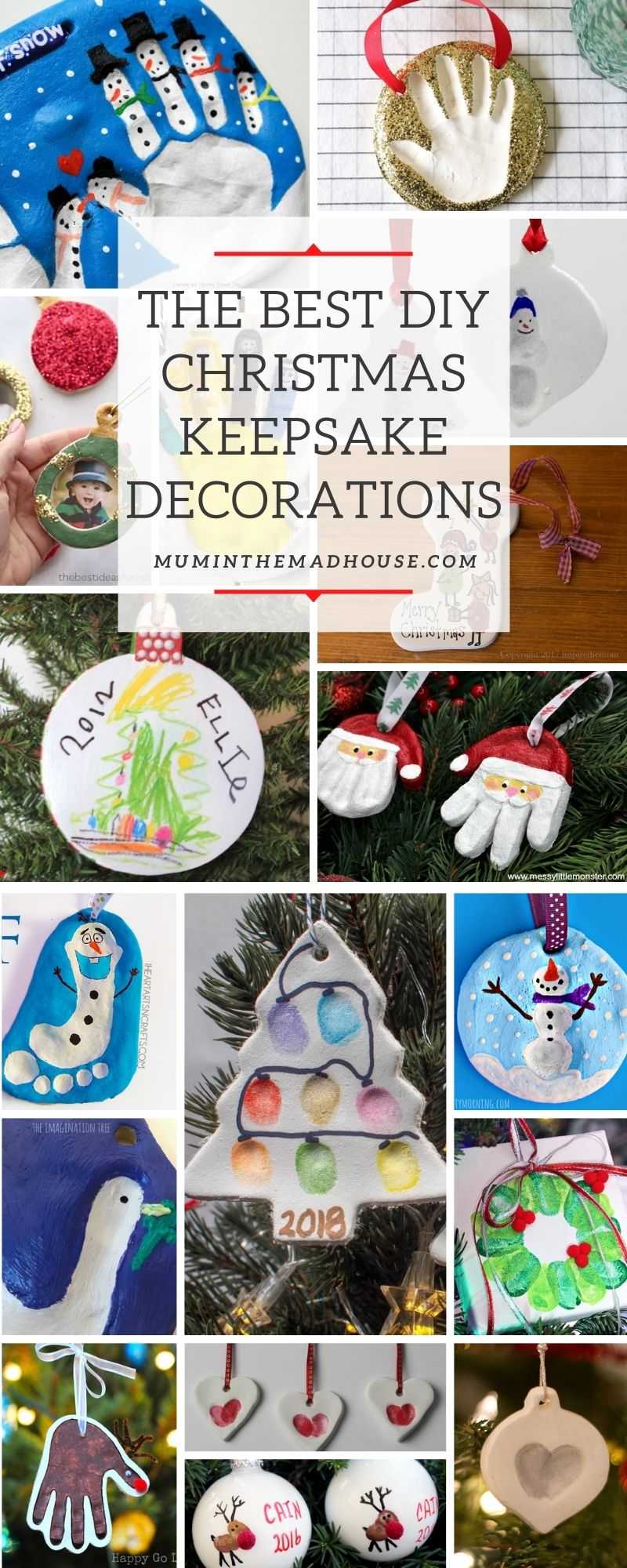 The Best DIY Christmas Keepsake Decorations that your family will cherish for years to come. These craft ornaments are beautiful and meaningful.