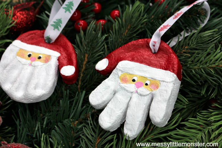 Santa Handprint Keepsake