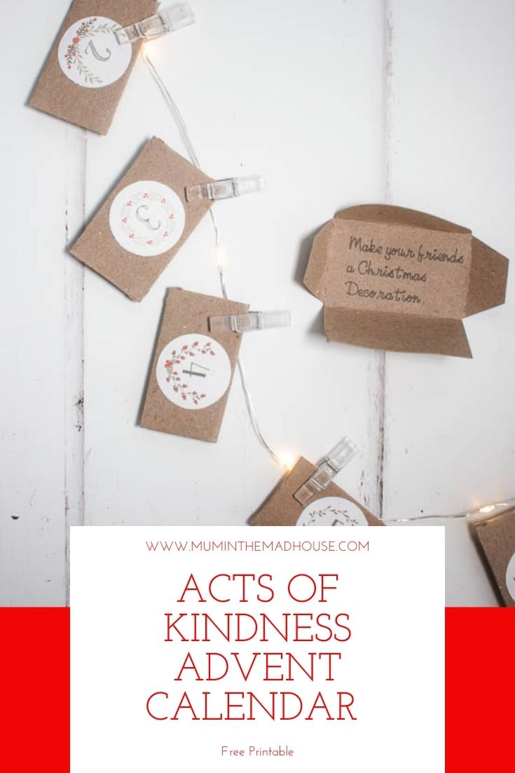 Download this delightful Acts of Kindness Advent Calendar and spread some cheer in the build up to Christmas with these random acts of kindness