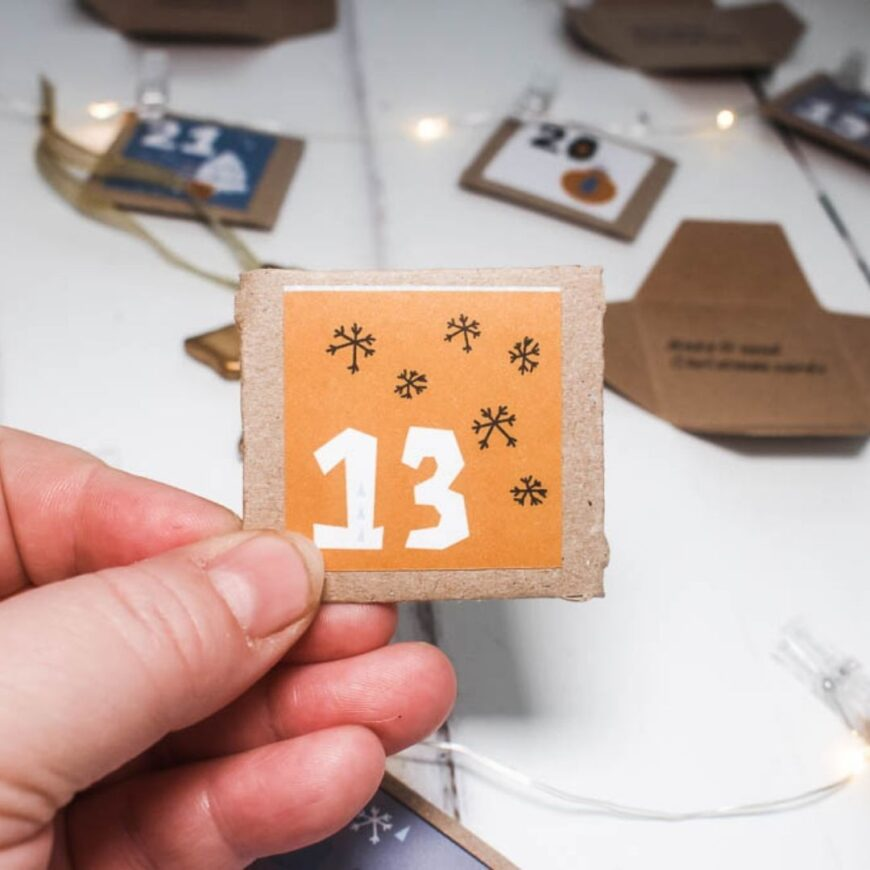 Advent Calendar Activities with Free Printable