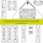 Colour In Nativity Scene Free Printable