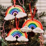 DIY Rainbow Clay Christmas Tree Decorations