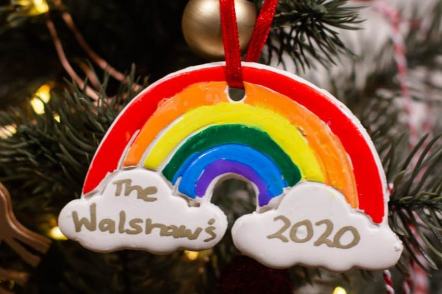 We love making ornaments each December and these colourful DIY Clay Rainbow Tree Decorations are such a fun festive project. You'll love making these with air dry clay