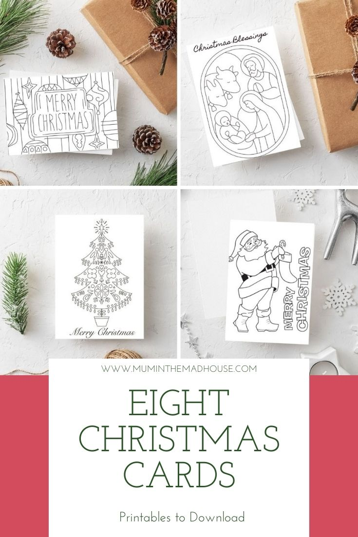 Free Printable Christmas Cards To Colour Mum In The Madhouse