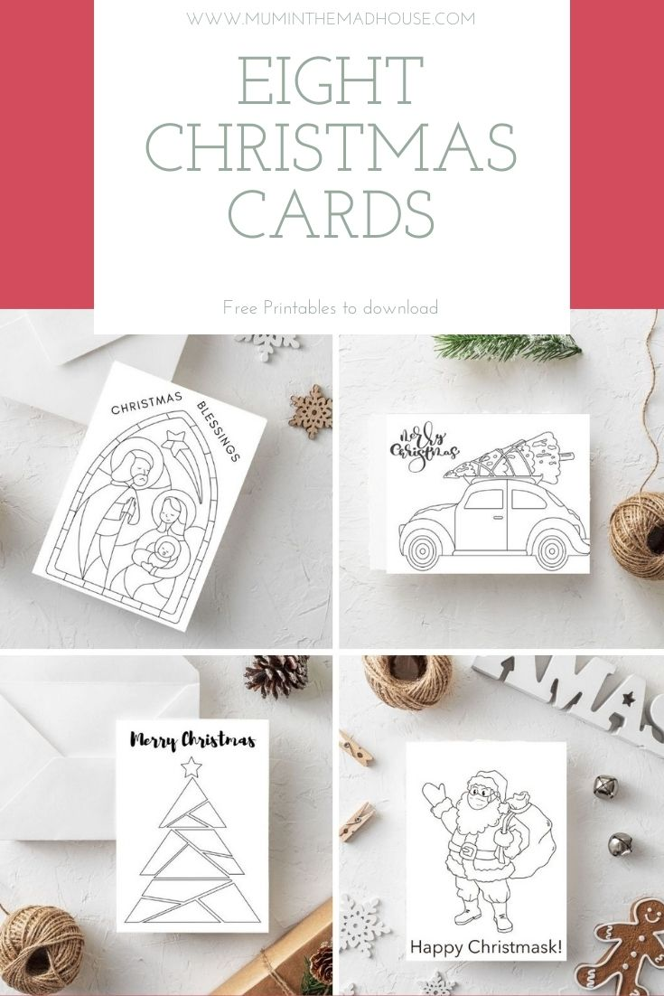 Fab free printable Christmas cards to colour for kids and adults and one specifically designed just for 2020! Download, print, colour and sent with love.