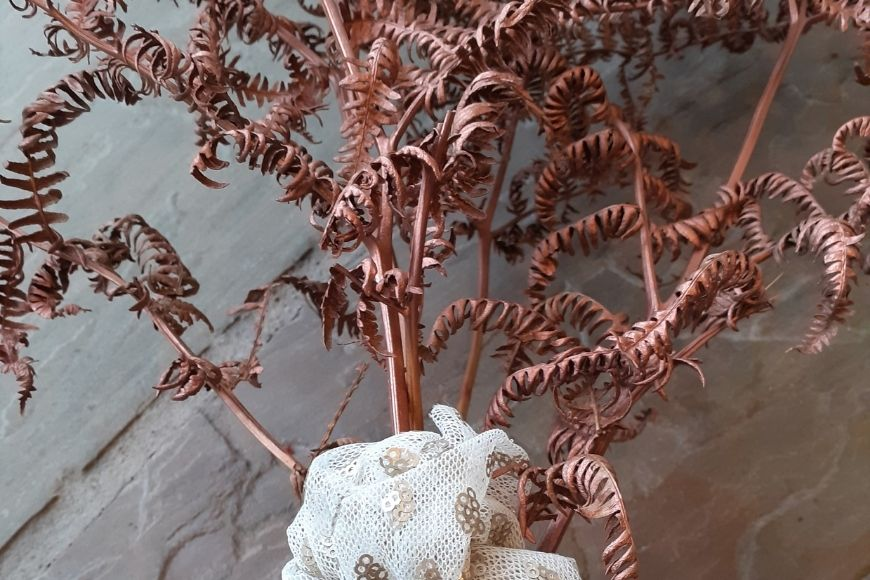 Sprayed dried Bracken natural Christmas Decoration