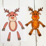 Paper Articulated Reindeer Puppet Printable