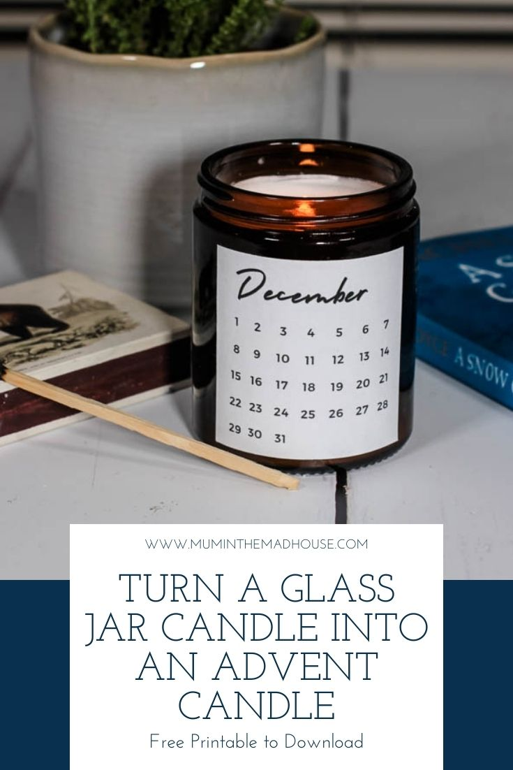 Turn any glass candle into an Advent candle this December with our fab free printable. Transform your favourite scanted candle this Advent.