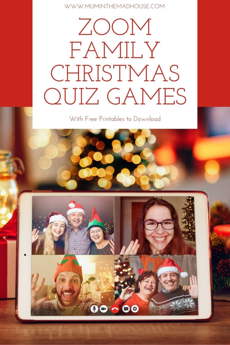 Playing Family Christmas games for zoom is a great way to keep your family connected this festive season with a festive virtual quiz night.