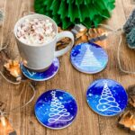 DIY Christmas Coasters using Cricut Infusible Ink