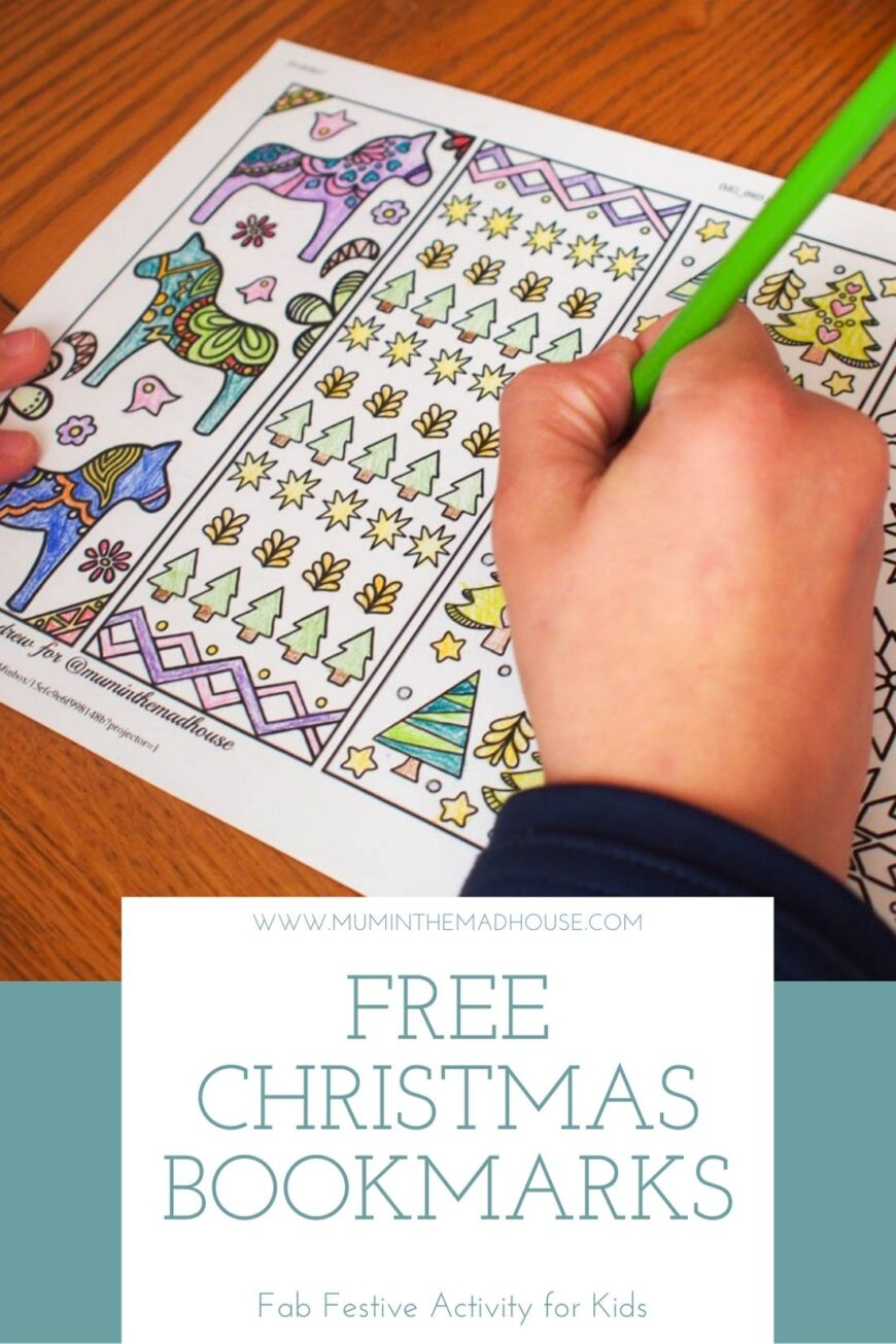 How cute are these free Christmas Bookmarks to Colour?  They make a super quiet time activity for children this festive season.  Simply download, print them off, cut them out and colour.