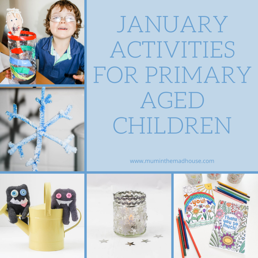 Simple January activities for Primary aged children is a great resource for the month with ideas of simple activities to do with kids aged 4-10.