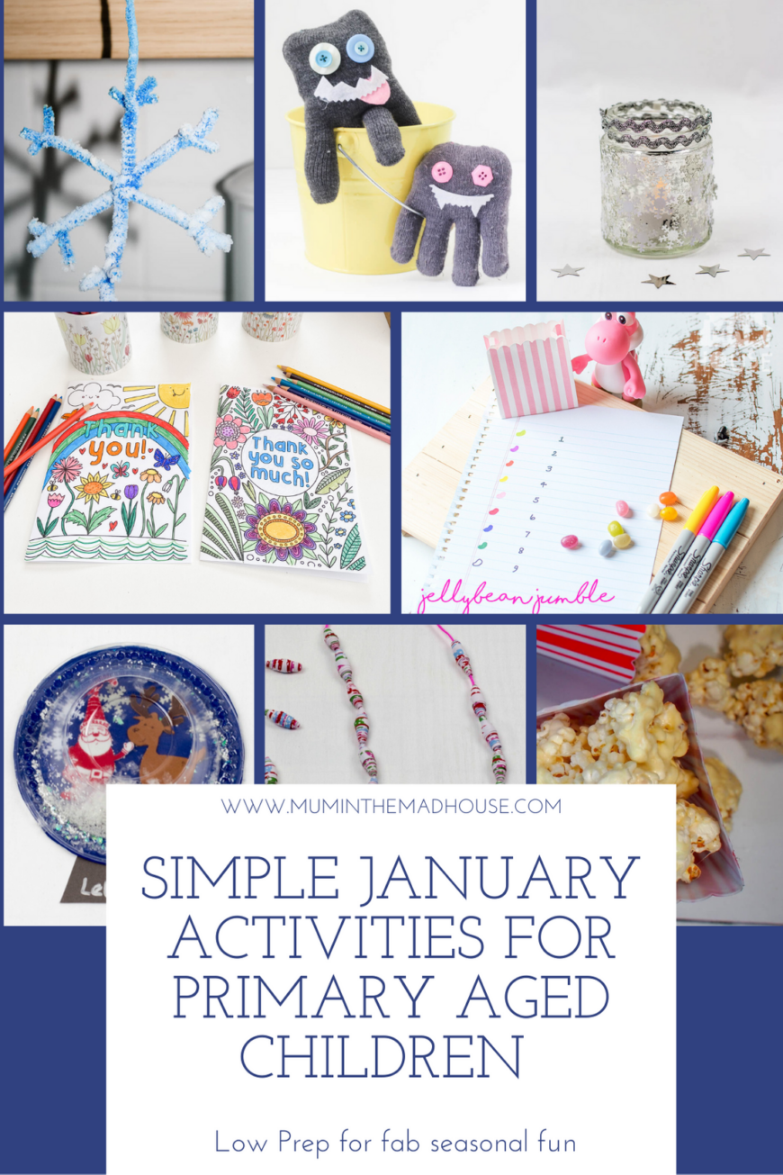 Our simple January activities for Primary aged children is a great resource for the month with ideas of simple activities to do with kids aged 4-10.