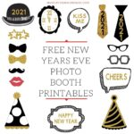 Free Printable New Years Eve Party Photo Booth Props