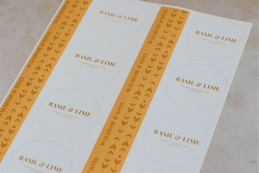 Labels for candle making