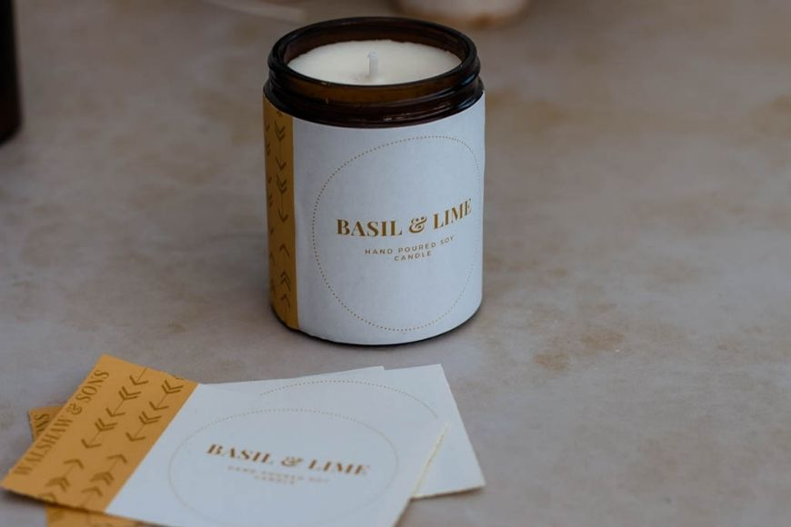 Basil and Lime Soy container candle