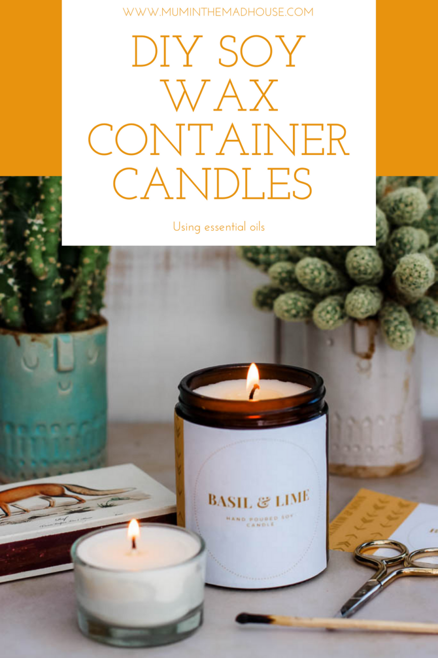 Image of 2 home made container candles