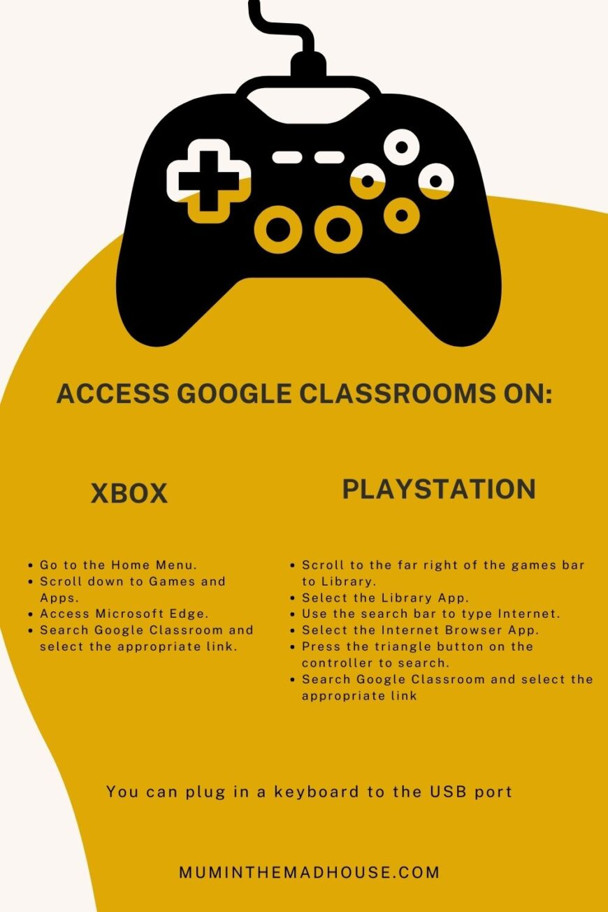 How to Use Google Classrooms on an Xbox or PlayStation.