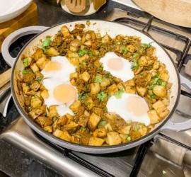 Smoky Beef and Crispy Potato Hash with Eggs