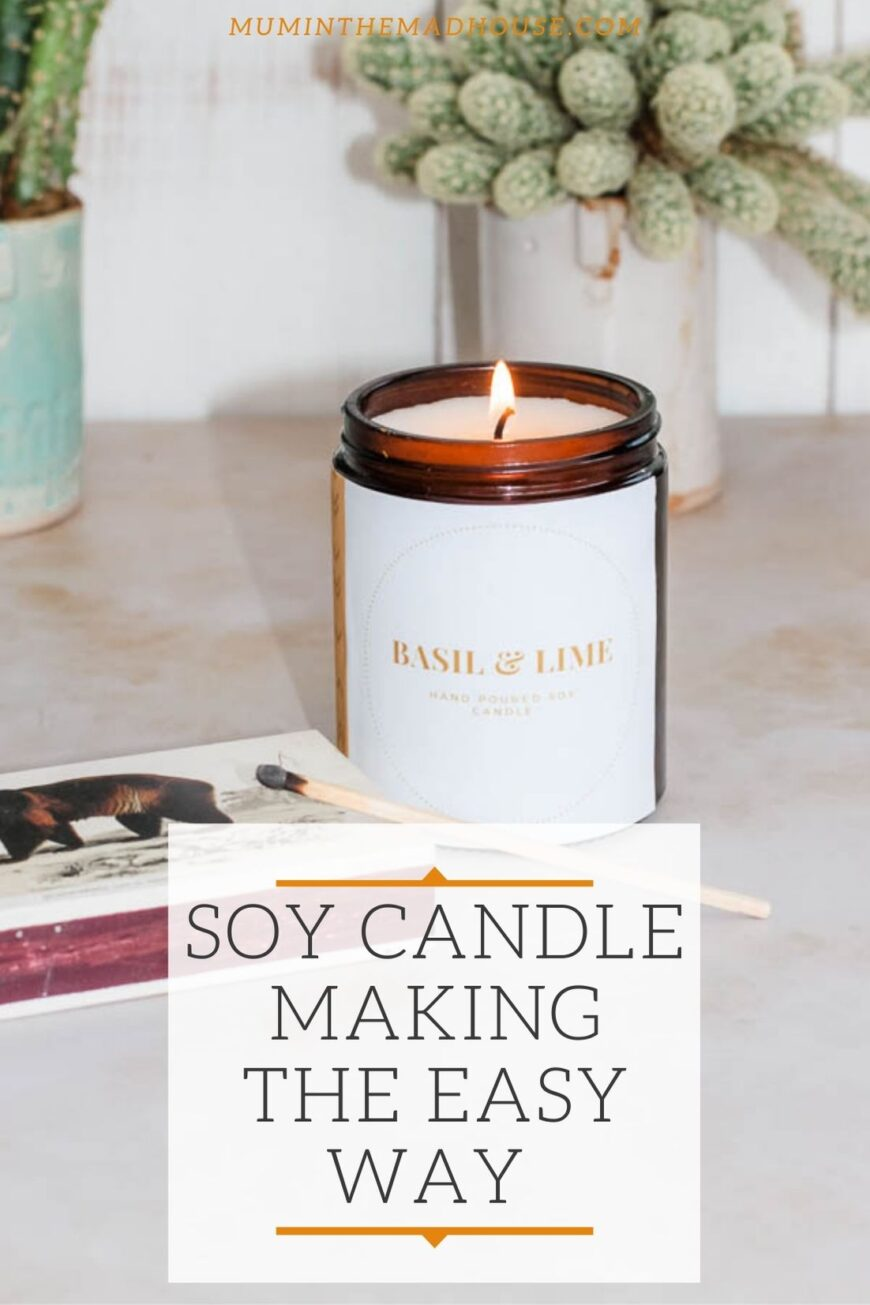 Homemade Container candle