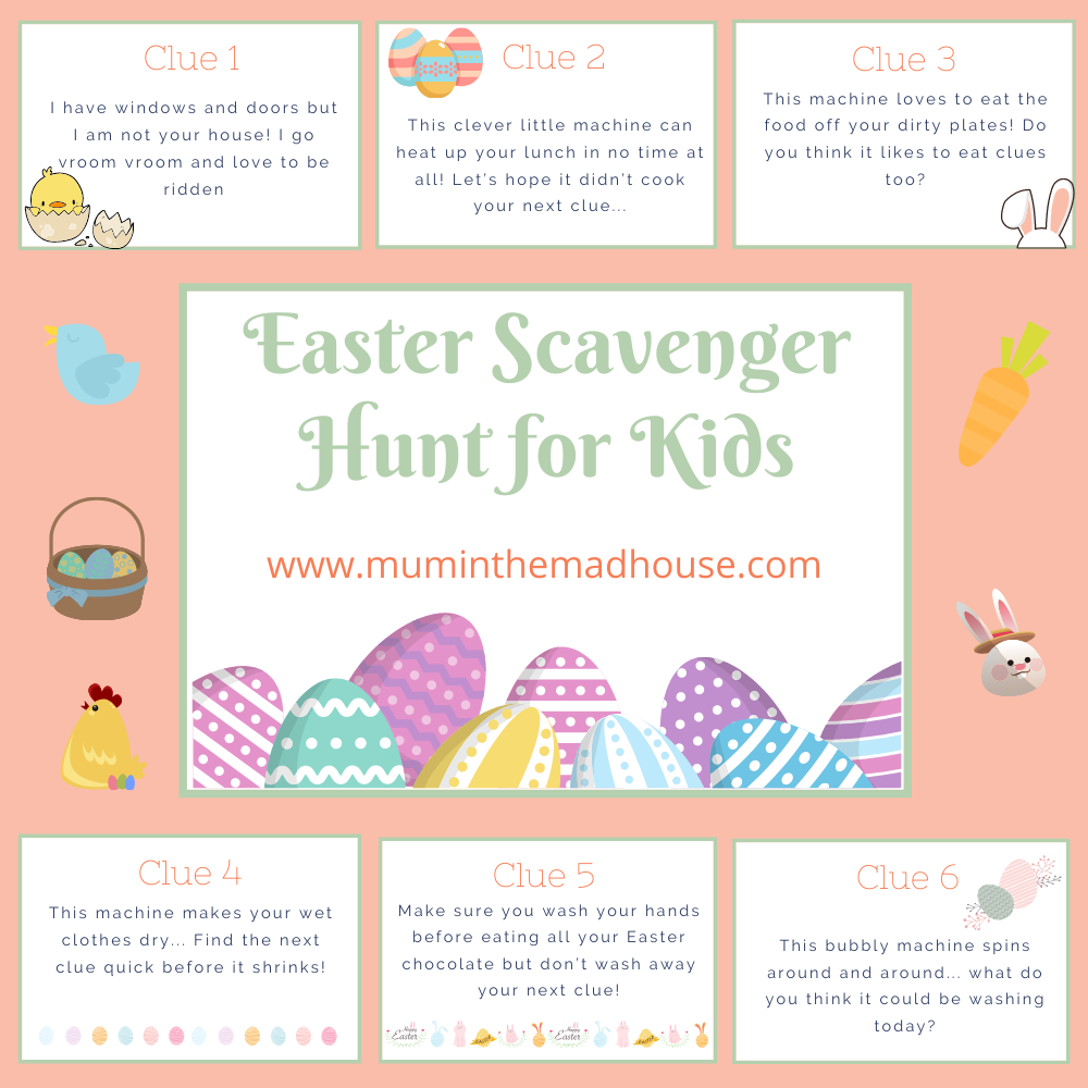 Easter Egg Hunt For Kids With Printable Clues Mum In The Madhouse