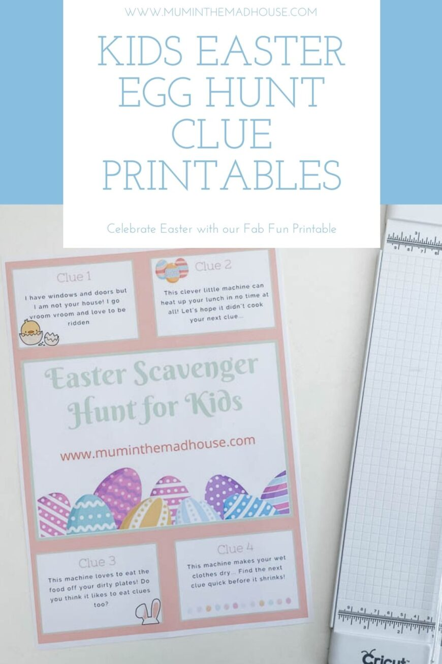 Easter Egg Hunt for Kids with Printable Clues