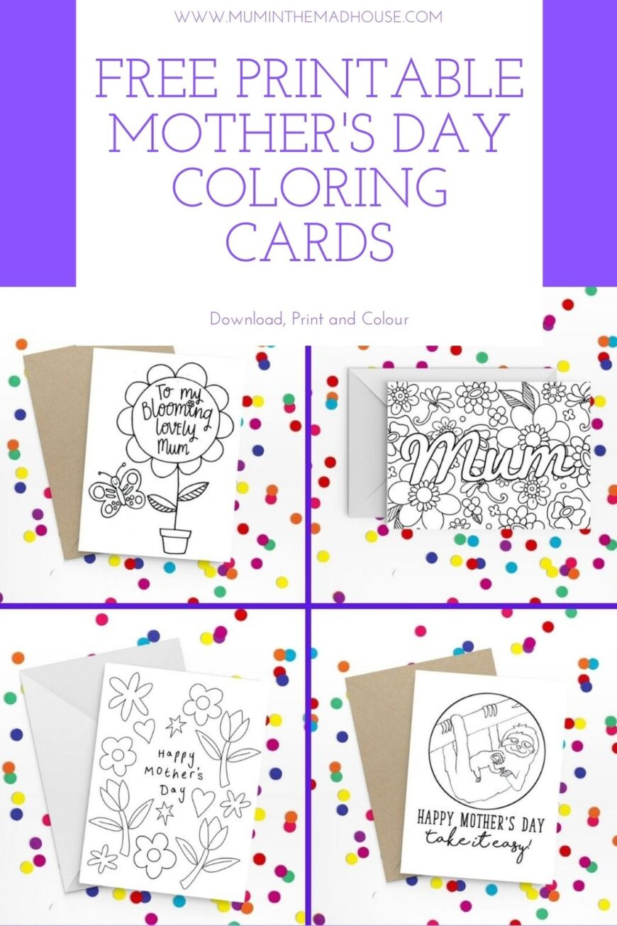 Free Printable Mother's Day Coloring Cards