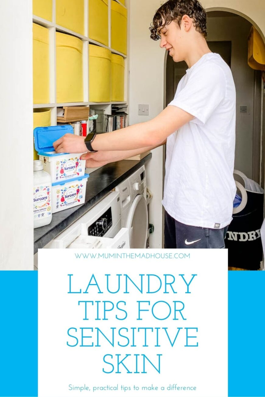 Here are our top laundry tips that will protect your families sensitive or eczema-prone skin. Laundry Tips for Sensitive Skin that every mum needs to know.
