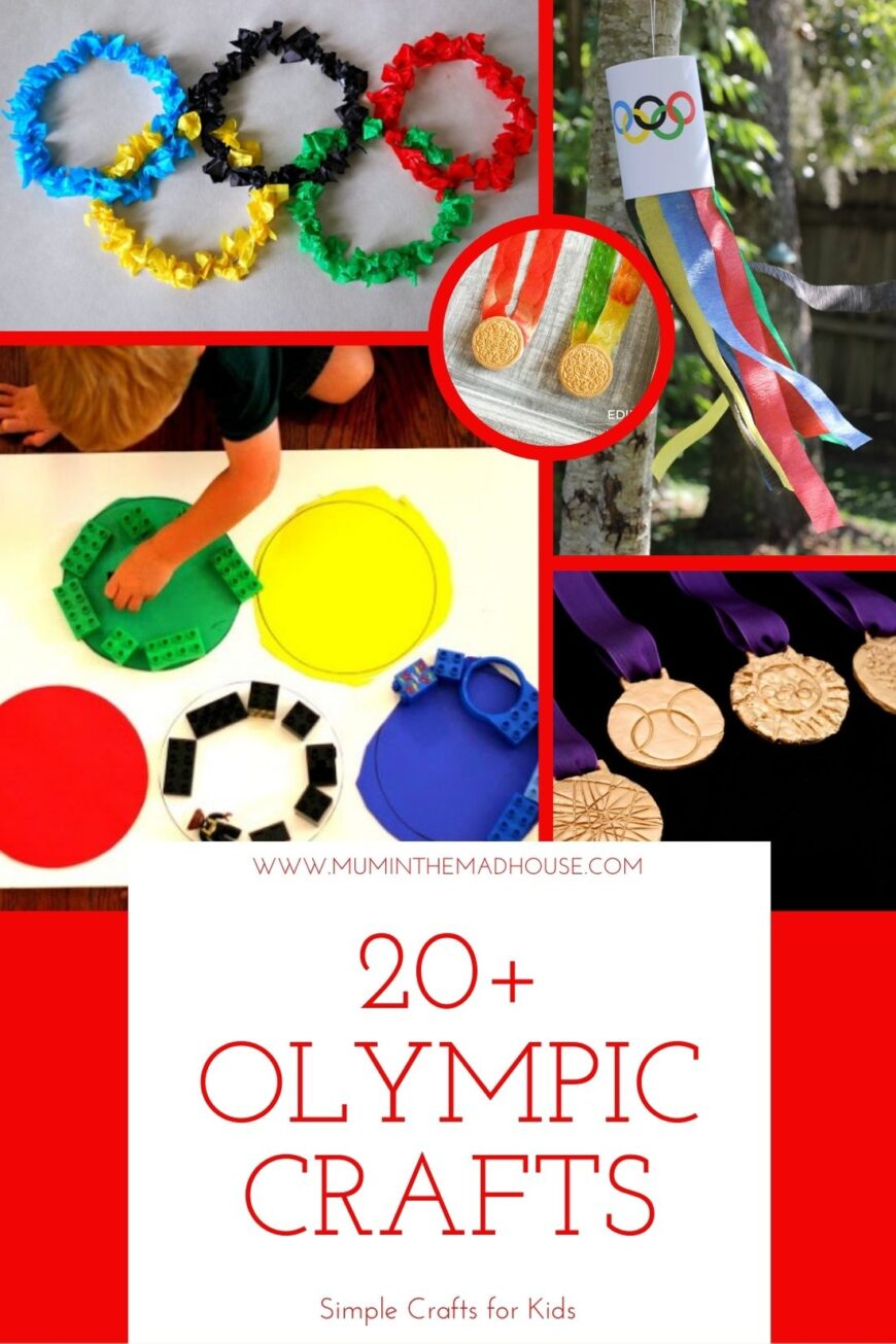 You are going to love these Olympics Crafts For Kids that help establish the spirit of the Olympics and help teach your children all about the Olympic Games