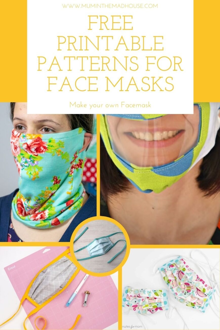 Learn how to sew a face mask from fabric to keep yourself and the people around you safe! These free face mask patterns use easy to make.