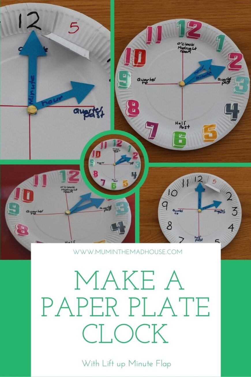 Make a paper plate clock for learning to tell time
