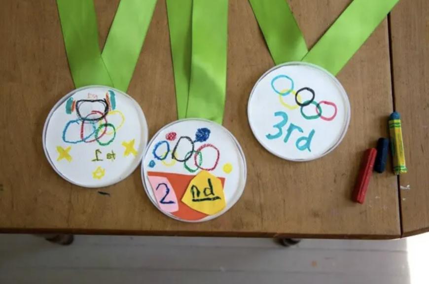 DIY Olympic Games Medal Craft