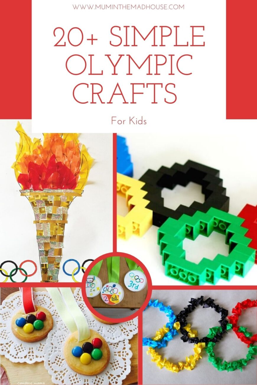 Looking for a great way to teach your child about the Olympics? These Simple Olympic Kids Crafts are a great way to engage their imagination.