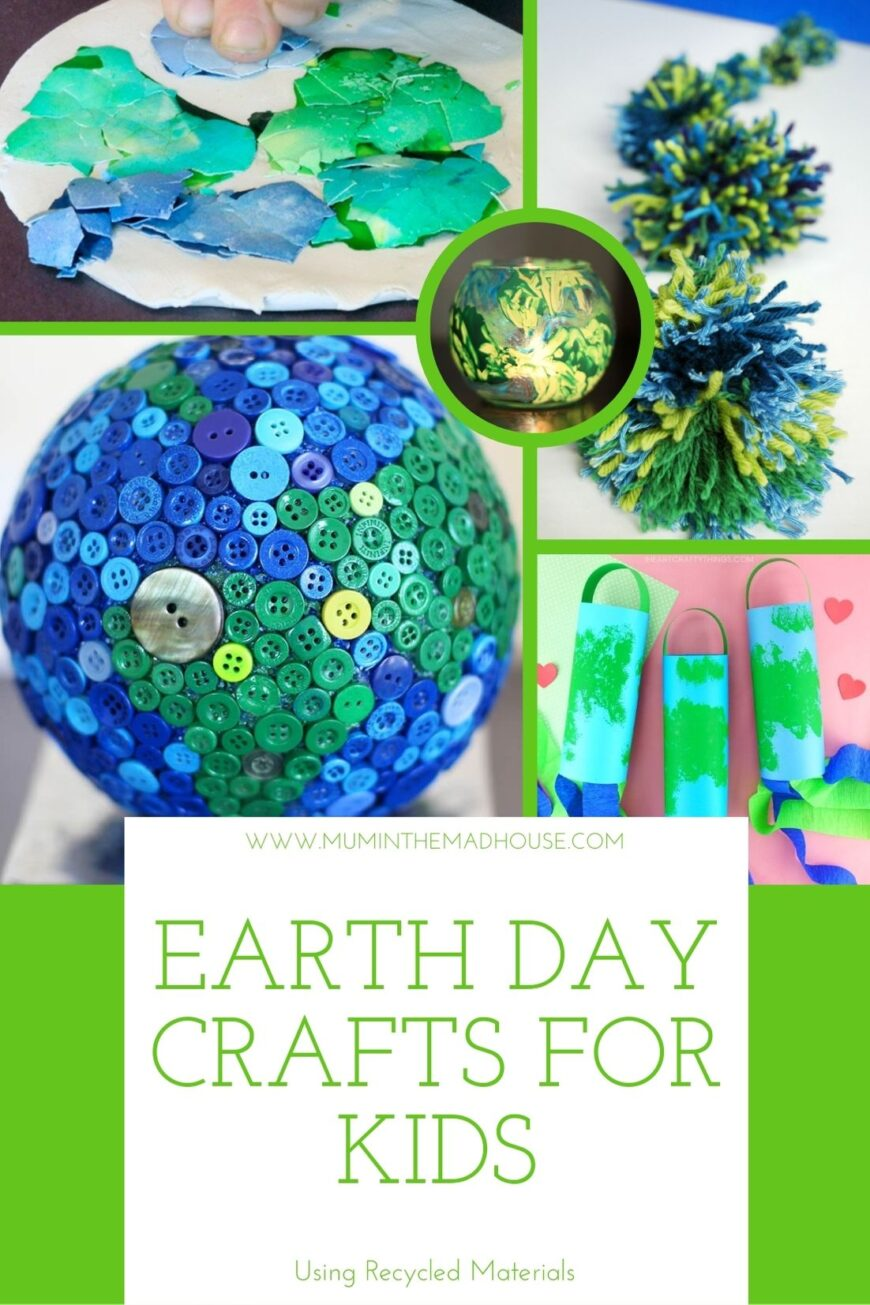 Teach kids how to reuse or upcycle things they might normally dispose of with one of these eco-savvy Earth Day crafts using recycled materials